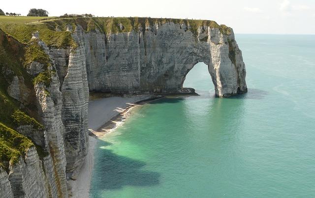 Krijtrotsen Étretat  Normandie