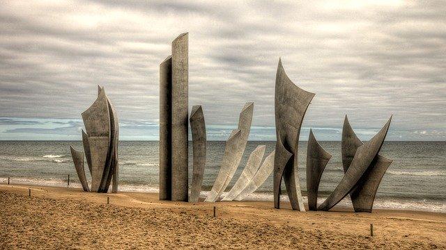 Omaha beach strand normandie